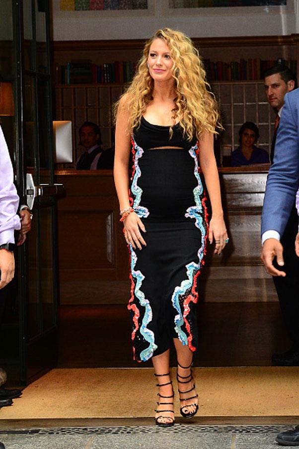 <strong>June 22nd, 2016</strong><br><br> Blake is snapped sporting a romantic, figure-hugging midi dress as she leaves a venue in Soho, New York City