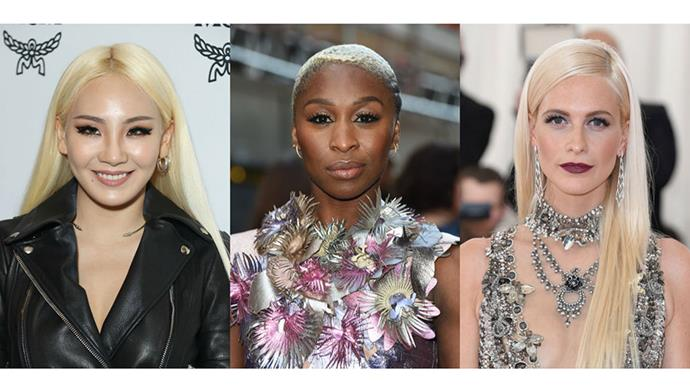 <strong>PLATINUM</strong> <br><br> Bleach blonde tones are oh-so-hot right now. Even our favourite songstress Taylor Swift sported the platinum shade at Coachella this year.