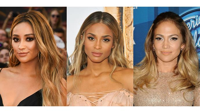 <strong>CARAMEL HONEY</strong> <br><br> For those with an olive skin tone the thought of trading dark locks for blonde might be daunting. If you're ready for a change, opt for a warmer caramel shade.
