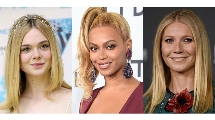 <strong>GOLDEN BLONDE</strong> <br><br> An all time favourite. This brighter hue can give any tired locks a show-stopping shine. Beyoncé, Gwenyth Palthrow and Elle Fanning definitely did it right.
