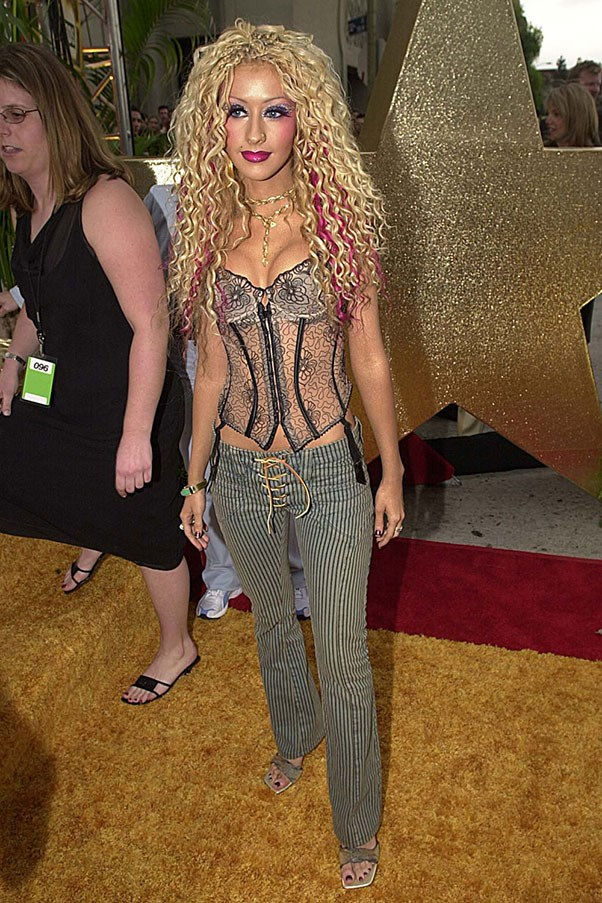 <strong>Pants with lace-up crotches</strong><br><br> Low rise, of course. <br><br> Christina Aguilera, 2002
