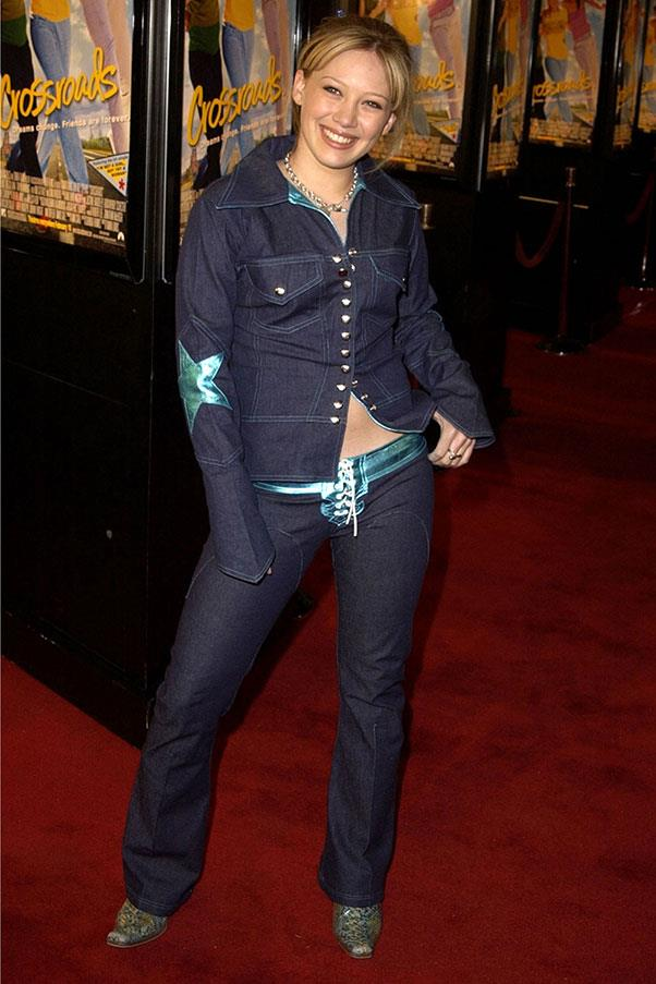 <strong>Pants with lace-up crotches</strong><br><br> Hillary Duff, 2002
