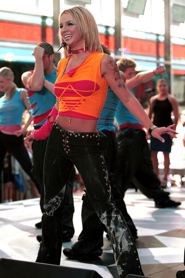 <strong>DIY t-shirts</strong><br><br> Best paired with lycra and/or vibrant colours. Britney Spears. 2000
