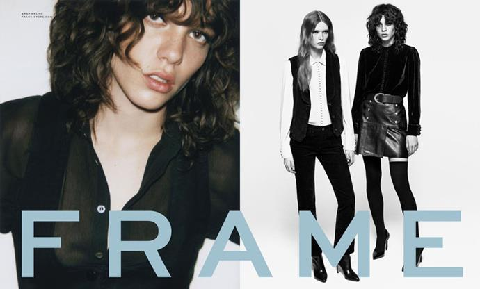 <strong>FRAME</strong><br><br> Modelled by Steffy Argelich and Julia Hafstrom, shot by Frame's co-founder Erick Torstensson