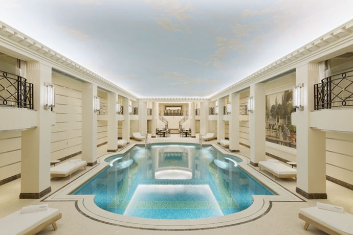 <strong>The swimming pool is appropriately grand</strong>