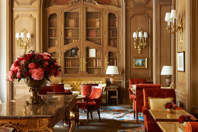 "<strong>Tea is served in the Salon Proust</strong> <br><br> ""At the Ritz, nobody pushes you"", Marcel Proust said. The hotel named this salon in his honour to give its guests a place to relax and recharge over tea and madeleines by the fire."