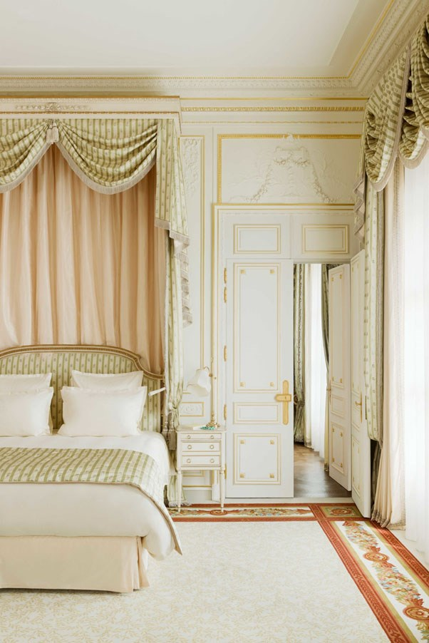 <strong>A bedroom in the suite Vendôme looks especially inviting</strong>