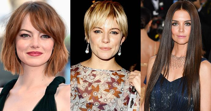Whether it's a bob or long locks, these celebrities can do it all.