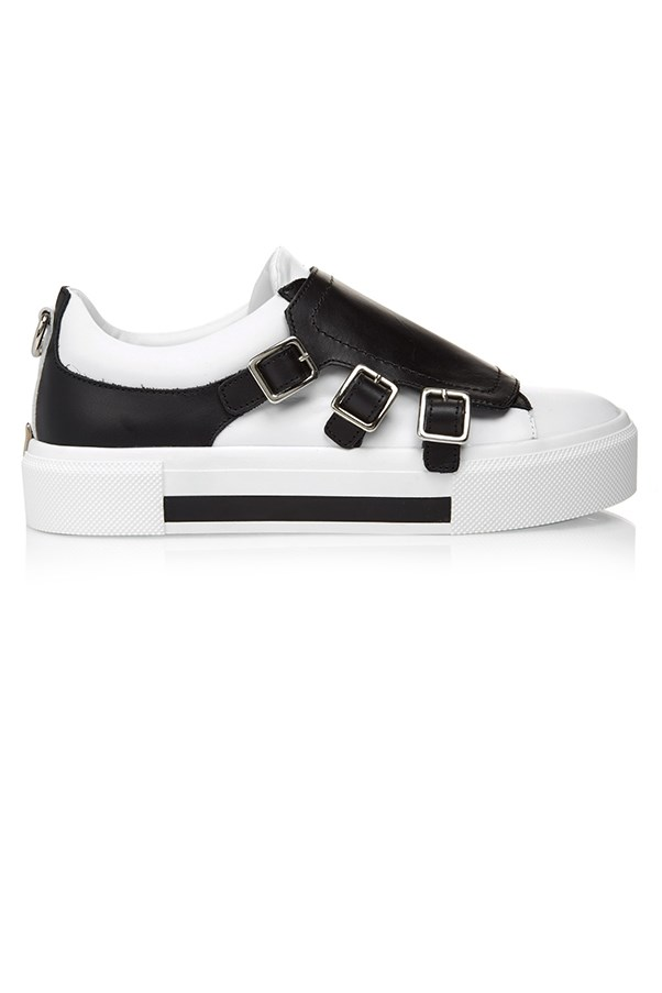 "<strong>Lily Lun, <a href=""https://cultstatus.com.au/"">Cult Status:</a></strong> <br><br> ""Customers have grown fond of wearing comfortable sneakers. This, coupled with a switch to a more relaxed and informal trends, means the return of boyish style shoes in the form of loafers, creeper and brogues with an elevated platform, as well as chunky exaggerated platform boots. Footwear is definitely a major consideration this season which is more street-inspired, and a little anti-fashion."" <br><br> <strong>The key buy: </strong>Alexander McQueen trainers, $780, from <a href=""https://cultstatus.com.au/collections/sneakers/products/alexander-mcqueen-es-three-buckle-trainers#.V3C6Vvl9670"">Cult Status</a>."