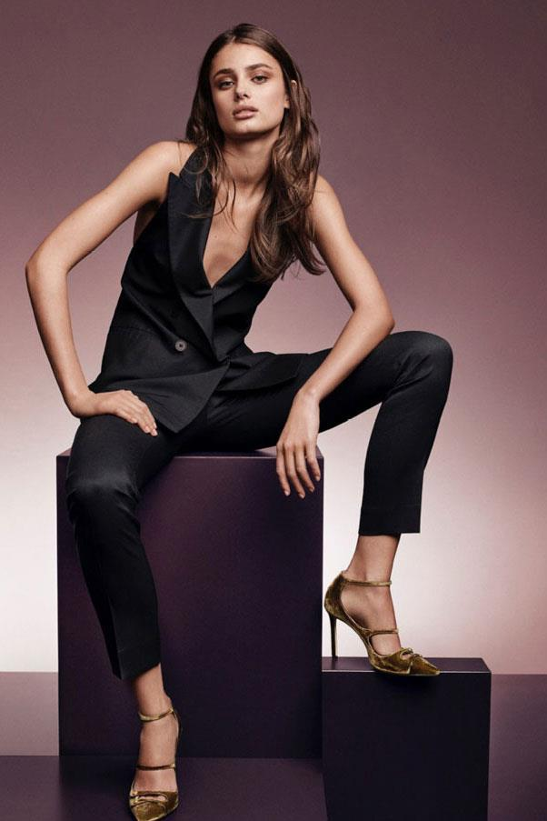 <strong>Jimmy Choo</strong><br><br> Modelled by Jasmine Tookes, Amber Valletta and Taylor Hill (pictured), shot by Craig McDean
