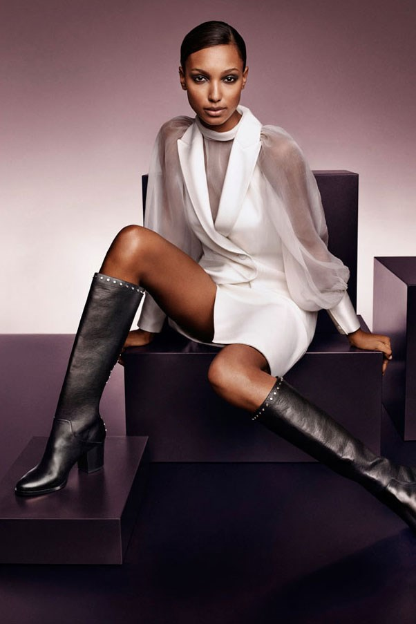 <strong>Jimmy Choo</strong><br><br> Modelled by Jasmine Tookes (pictured), Amber Valletta and Taylor Hill, shot by Craig McDean