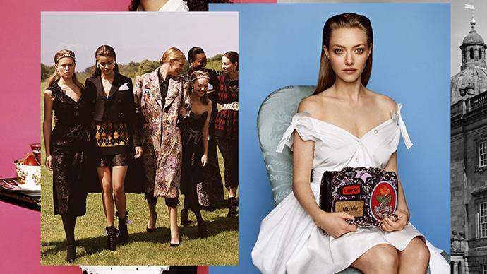 <strong>Miu Miu</strong><br><br> Modelled by Amanda Seyfried, Anna Ewers and Taylor Hill, shot by Alasdair McLellan