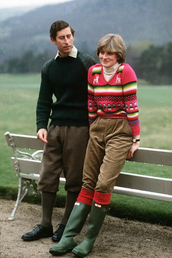 With Prince Charles, 1981