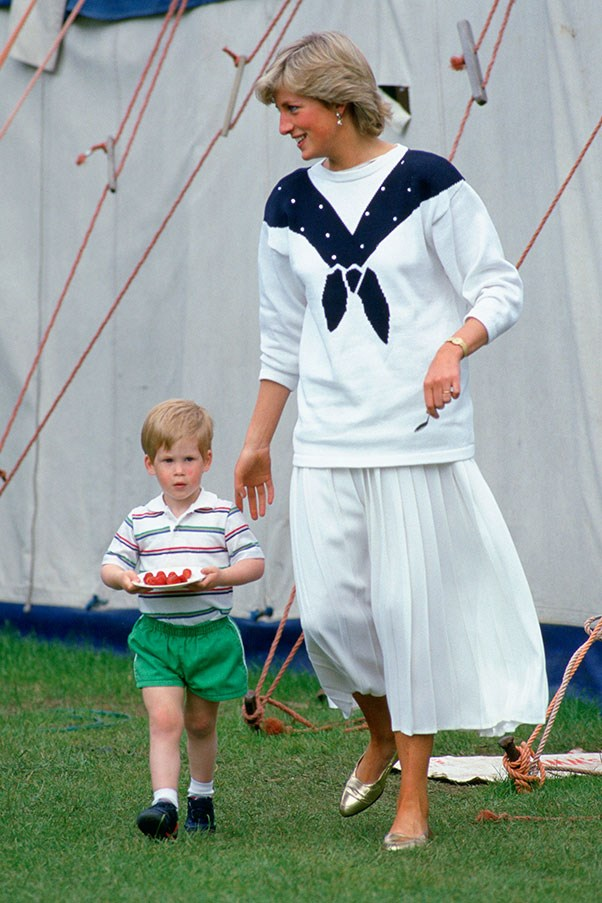 With Prince Harry, 1987