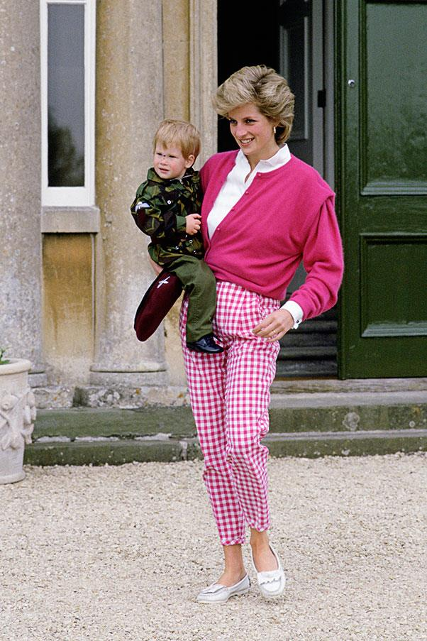 With Prince Harry, 1986