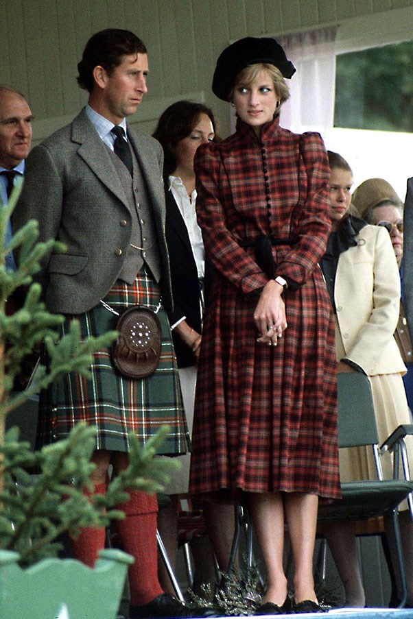 With Prince Charles in Scotland, 1981
