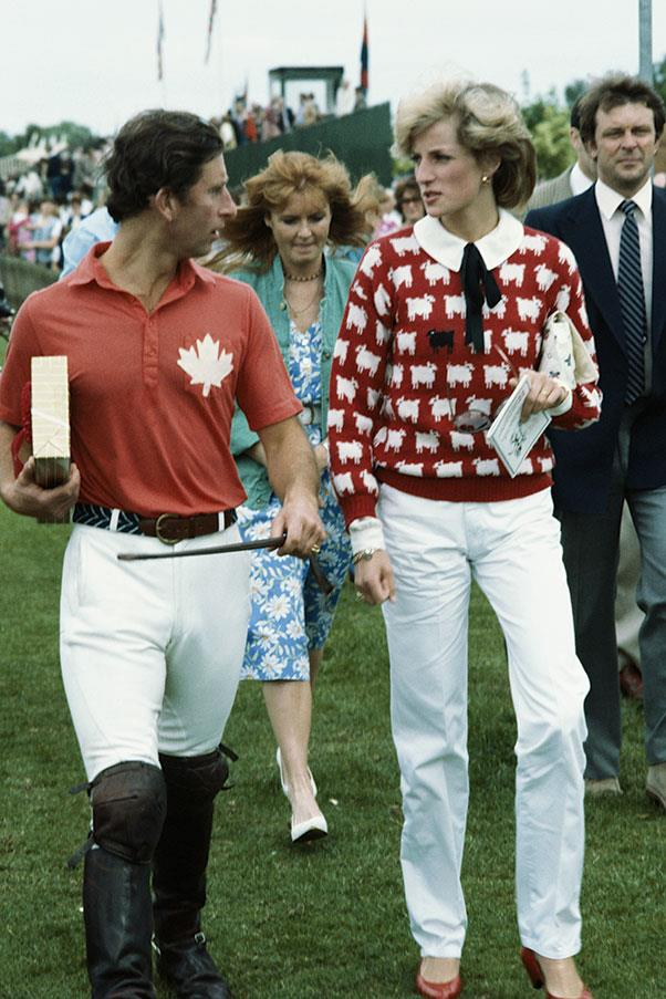 With Prince Charles at the Polo at Windsor, 1983