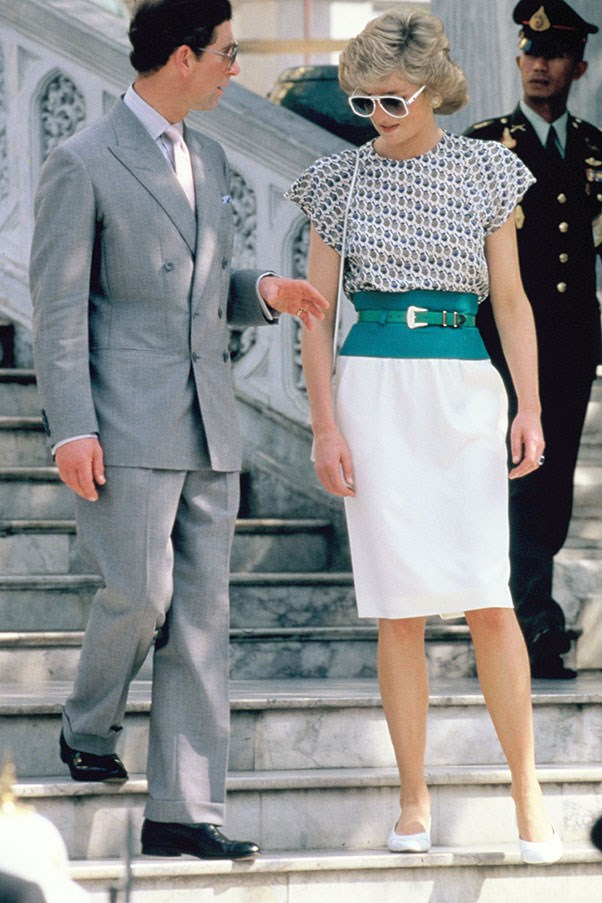 With Prince Charles in Thailand, 1988