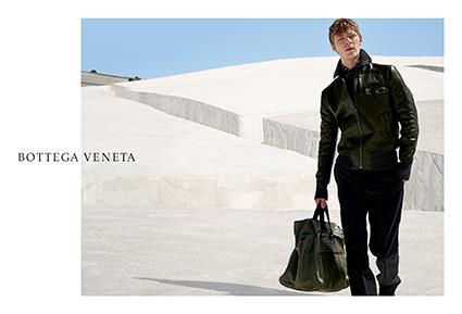 <strong>Bottega Veneta</strong><br><br> Modelled by Simon Fitskie and Rianne Van Rompaey, shot by Viviane Sassen