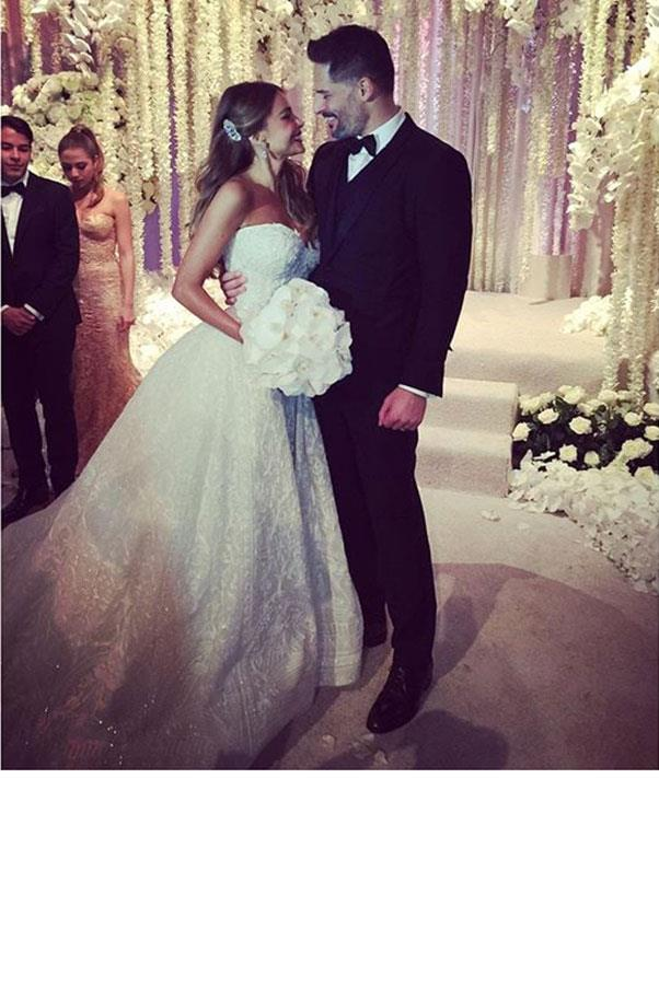Sofia Vergara wore custom Zuhair Murad when she tied the knot with in an extravagant Palm Beach ceremony, in November 2015.