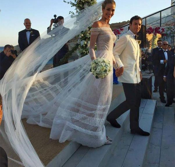 Ana Beatriz Barros Greek Island Wedding