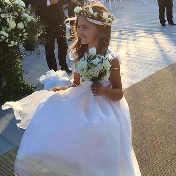 "Alessandra Ambrosio's daughter Anja as flower girl <br><br> Instagram: <a href=""https://www.instagram.com/p/BHoJ7qWD-XE/?taken-by=alessandraambrosio"">@alessandraambrosio</a>"