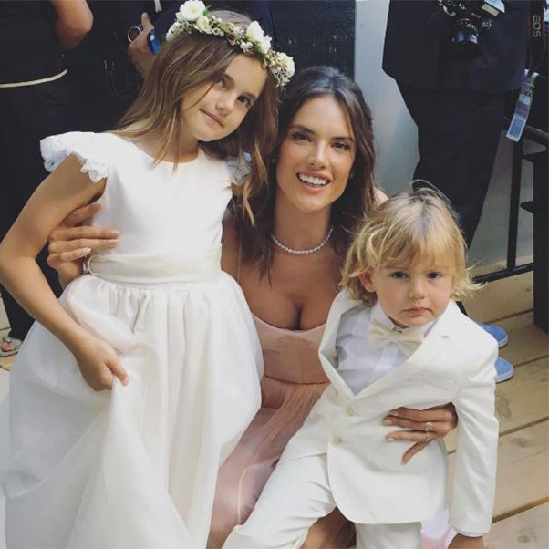 "Alessandra Ambrosio and her children Anja and Noah<br><br> Instagram: <a href=""https://www.instagram.com/p/BHoJ7qWD-XE/?taken-by=alessandraambrosio"">@alessandraambrosio</a>"