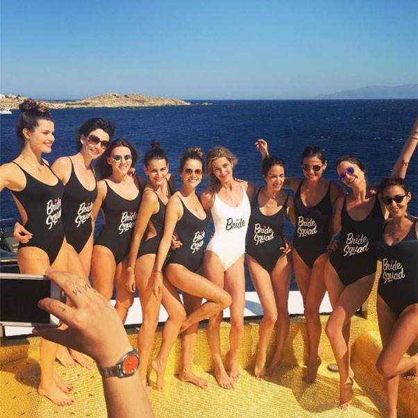 "The bachelorette party<br><br> Instagram: <a href=""https://www.instagram.com/p/BHkH37Ljyue/?taken-by=alessandraambrosio"">@alessandraambrosio</a>"