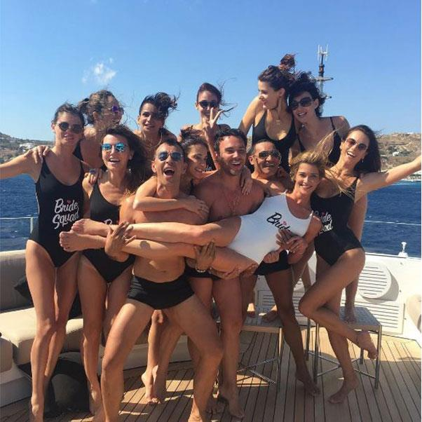 "The bachelorette party<br><br> Instagram: <a href=""https://www.instagram.com/p/BHkapcNDBNW/?taken-by=alessandraambrosio"">@alessandraambrosio</a>"