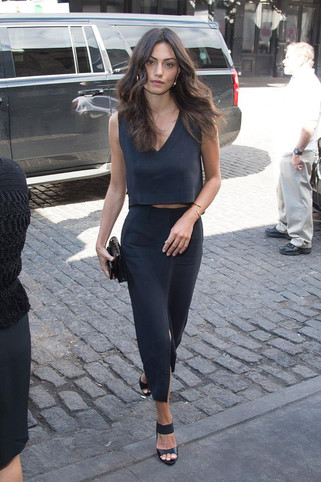 <strong>September, 2015</strong><br><br> Arriving at the Maiyet Spring '15 show at New York fashion week.