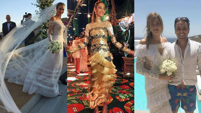 Inside the stylish Greek island wedding of Victoria's Secret supermodel Ana Beatriz Barros.