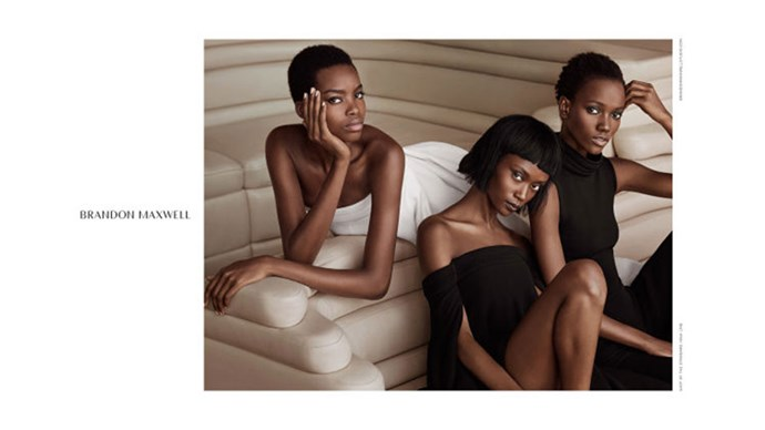 <strong>Brandon Maxwell</strong><br><br> Modelled by Blanca Padilla, Herieth Paul, Leila Nda, Maria Borges, Ophelie Guillermand and Riley Montana, shot by Brandon Maxwell