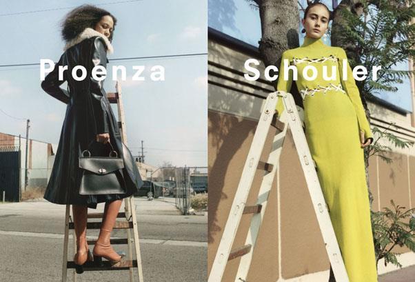 <strong>Proenza Schouler</strong><br><br> Modelled by Selena Forrest, Julia Bergshoeff and Alexa Peralta, shot by Zoë Ghertner