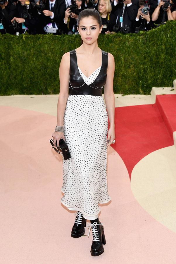 <strong>May 2, 2016</strong> <br><br> Selena wore head-to-toe Louis Vuitton to the Met Gala.