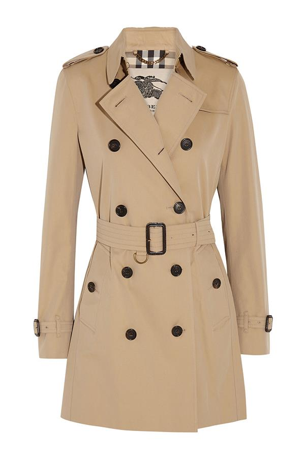 "<strong>9. A Burberry Trench</strong> <br><br>They may cost a pretty penny, but a Burberry trench will earn its place in your wardrobe — and then some. Go for a perfectly fitted beige classic style and wear it forever. <br><br><a href=""https://au.burberry.com/womens-trench-coats/"">Burberry</a>"