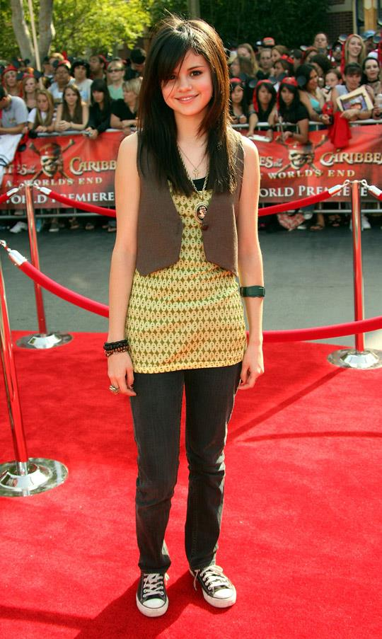 At the world premiere of Pirates of the Carribean, 19th May 2007.
