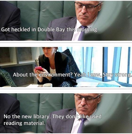 "<a href=""https://www.instagram.com/textsfrommalcolm/?hl=en"">@textsfrommalcolm</a> <br><br> Now that we (finally) have a Prime Minister, political satire is at its prime. Enter Texts From Malcolm: it's basically Australia's version of <em>The Thick Of It</em> in Instagram form."