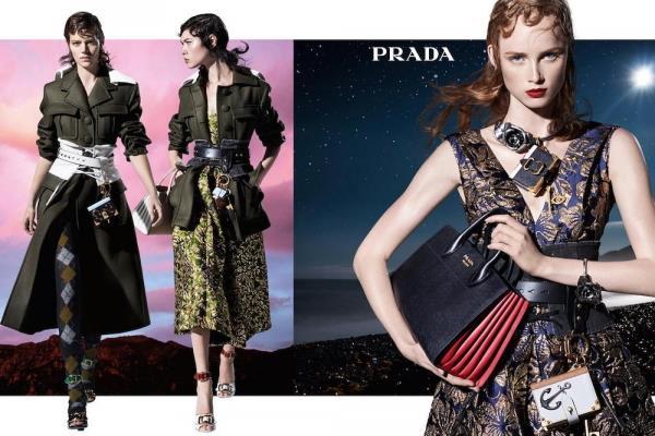 <strong>Prada</strong><br><br> Modelled by Lexi Boling, Freja Beha Erichsen, Sasha Pivovarova, Raquel Zimmermann and Stella Tennant, shot by Steven Meisel