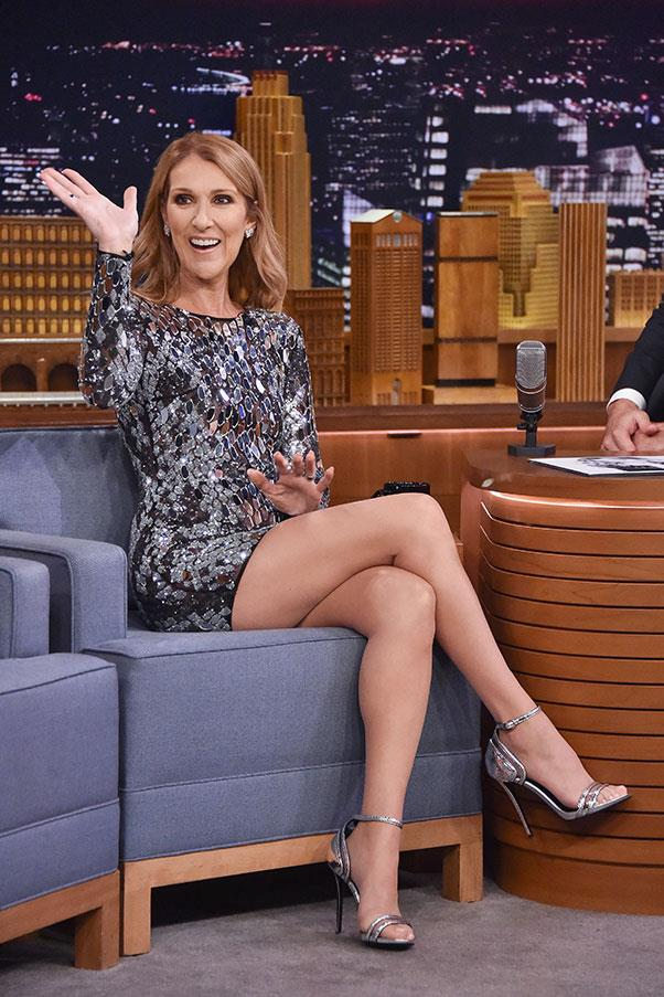 <strong>July 21st, 2016</strong> <br><br> Celine wore a Mikael D mirrored cocktail dress during her appearance on the <em>Tonight Show</em> with Jimmy Fallon.