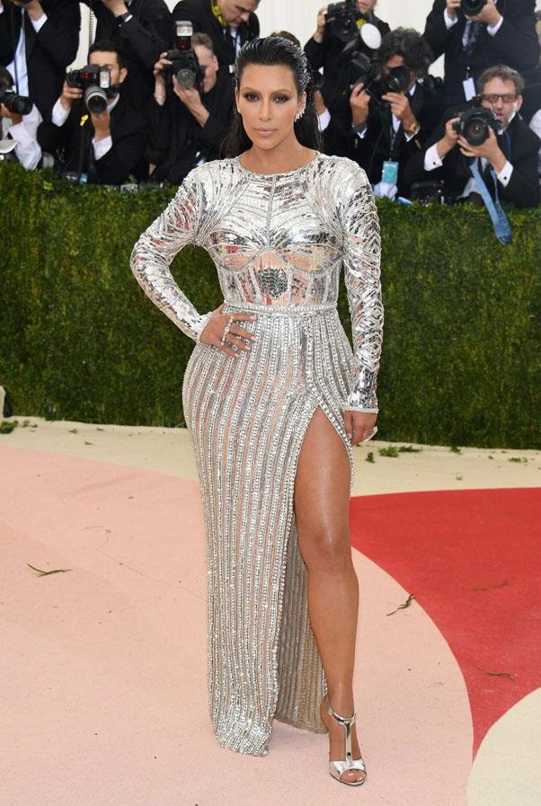 In Balmain at the Met Gala, May 2016