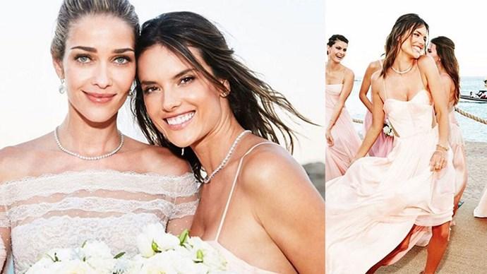 "<strong>Alessandra Ambrosio</strong><br><br> Alessandra Ambrosio played bridesmaid for fellow Victoria's Secret model Ana Beatriz Barros - who <a href=""http://www.harpersbazaar.com.au/bazaar-brides/real-brides/2016/7/victorias-secret-model-ana-beatriz-barros-wedding/"">married in Mykonos</a> last month."