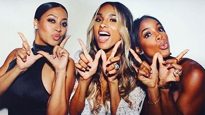 <strong>Ciara</strong><br><br> Kelly Rowland and Lala Anthony served as bridesmaid for Ciara's English wedding to Russell Wilson.