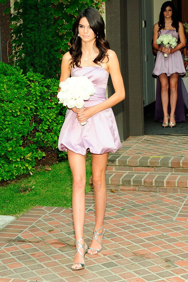 <strong>Kendall Jenner</strong><br><br> Kendall and her sister's were bridesmaids for Khloe Kardashian's 2009 wedding to Lamar Odom.