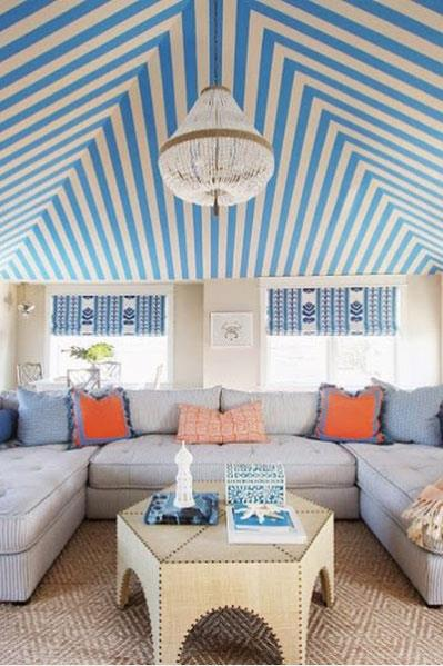 """<strong>The Glam Pad: The VIP Tent</strong> <br><br> If Palm Beach-inspired interiors are your thing, then The Glam Pad is heaven in an Instagram account. Think a beachside tented ceiling, palm-print wall paper, and plenty of hot pink and green. <br><br> <a href=""""https://www.instagram.com/theglampad/"""">@theglampad</a>"""