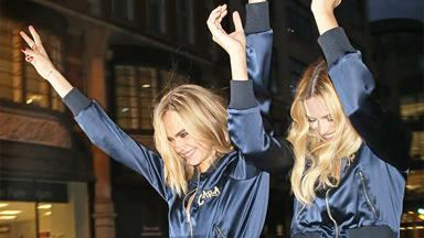Margot Robbie and Cara Delevingne's Matching Personalised Tracksuits Are Literal Perfection