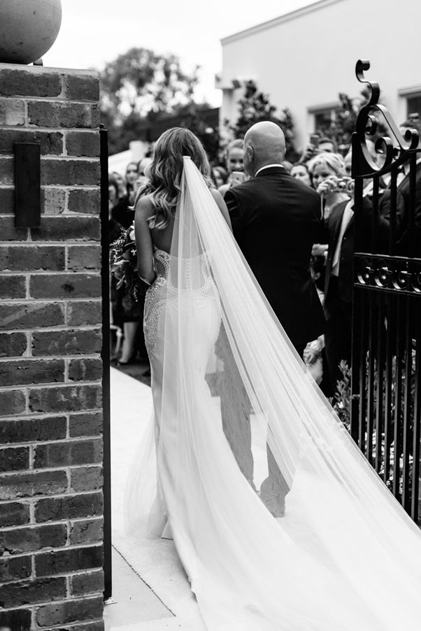 <strong>On your favourite element of the wedding:</strong> <br><br> Nothing will ever beat the excitement and anticipation of walking down the aisle to meet Matt at the alter and especially seeing just how excited our guests were it was such a rush and a moment we'll never forget.