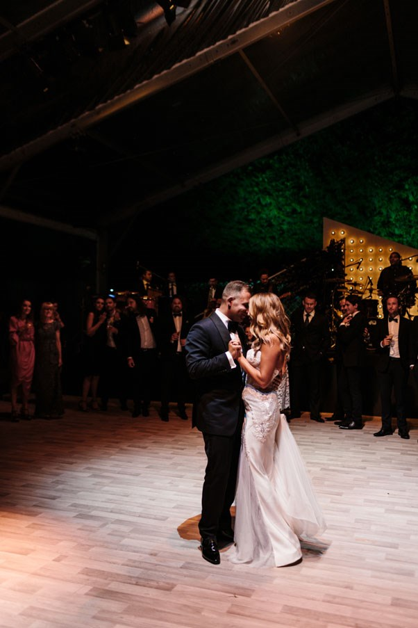 <strong>On their first dance:</strong> <br><br> We danced to Etta James' 'At Last'. It's such a beautiful classic - we wanted romance and soul, and the song encompasses just how much love we both have for each other.
