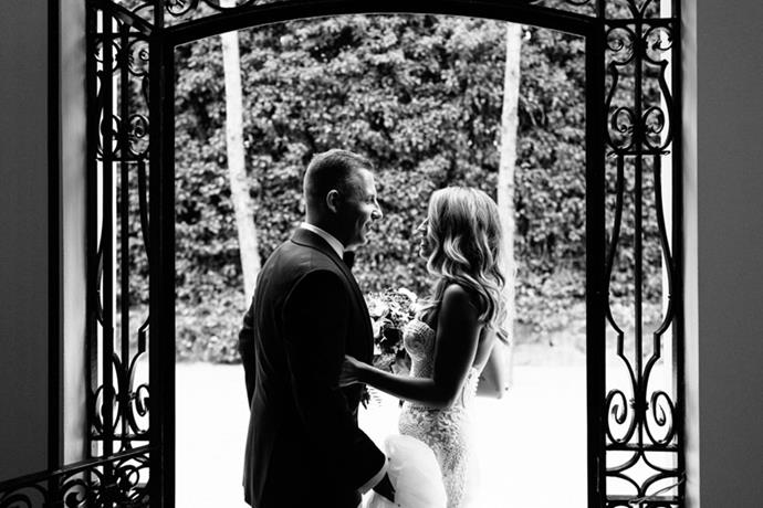 """<strong>On her one tip for future brides:</strong> <br><br> If you're thinking about a certain element that you would like to include in your wedding, do it! You definitely don't want to regret not hiring a videographer or the perfect photographer, as they are memories you'll keep forever. Remember to stress less and just enjoy every moment. The day goes way too quickly not to step back and soak it all in! <br> <br> *Getting married? Join our private group, [**The Bridal Directory**](https://www.facebook.com/groups/354270651754141