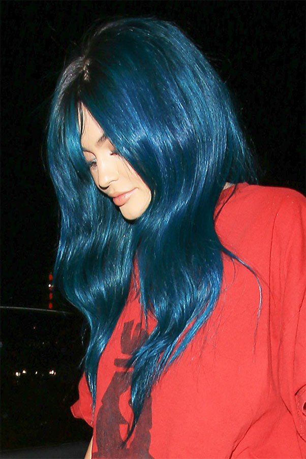 Shiny teal (wig) in June 2016.