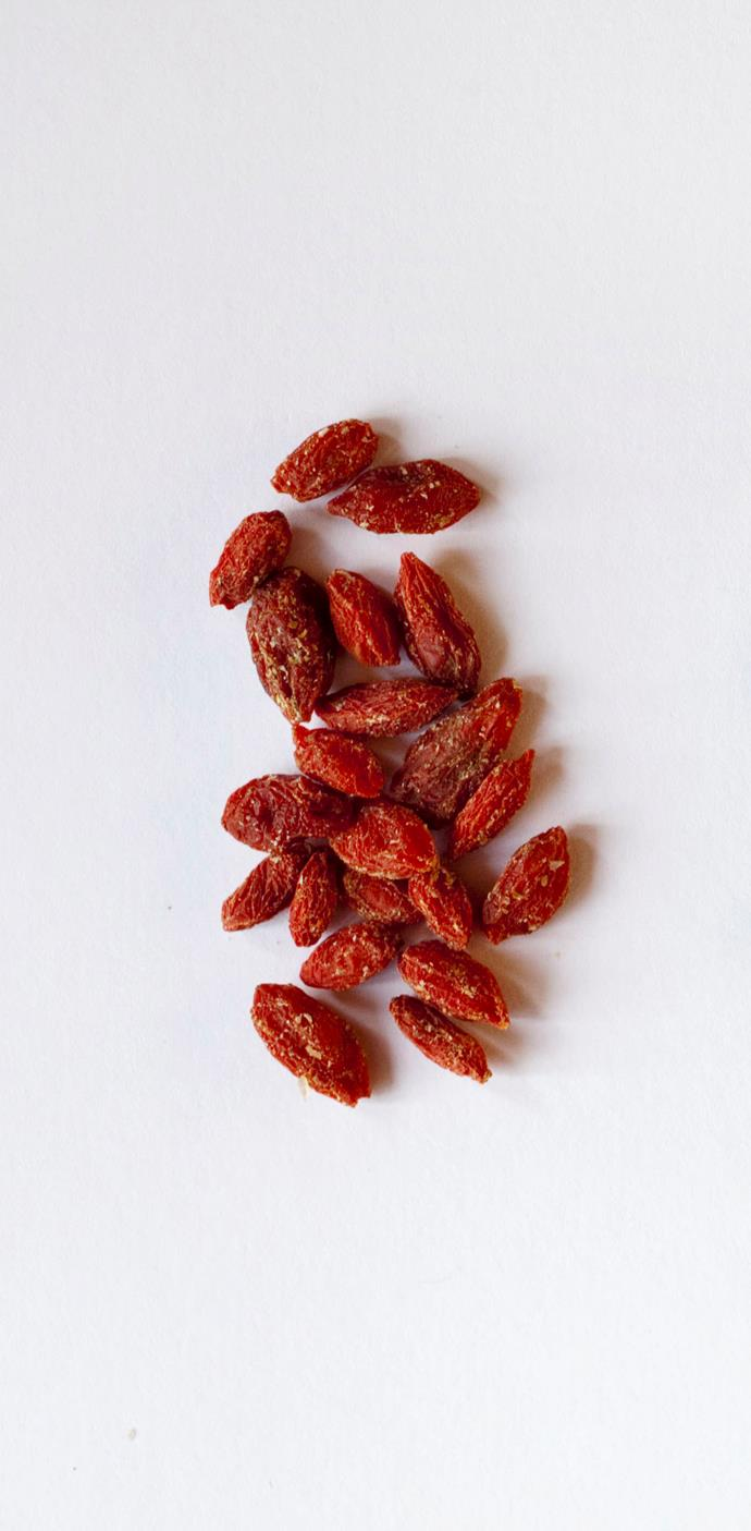 <strong>Goji Berries</strong> <br><br> While still good for you, the nutrients in goji berries can be easily replaced with more cost efficient options such as yellow peppers, spinach and cabbage.